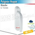 Poignée Hoppe blanche compatible Somfy Tahoma - 6/16 mm