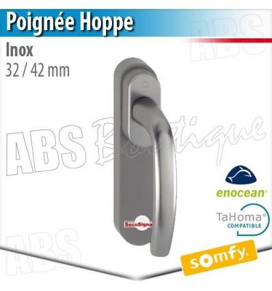 Poignée Hoppe inox compatible Somfy Tahoma - 32/42 mm