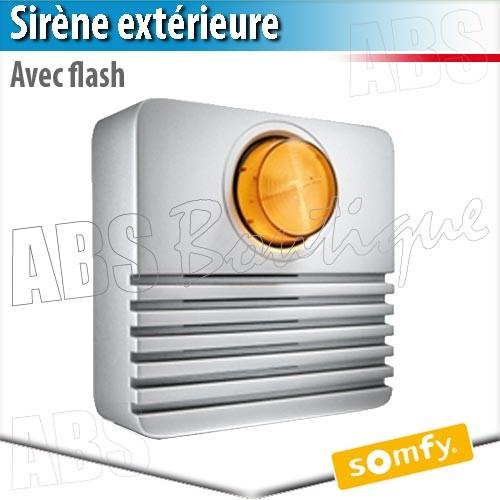 Sirène Extérieure Avec Flash   Alarme Protexial Somfy