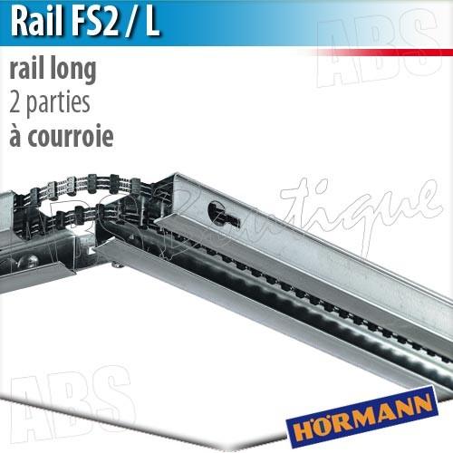 Rail moteur en 2 parties fs2 l pour supramatic et for Chaine detendue porte de garage