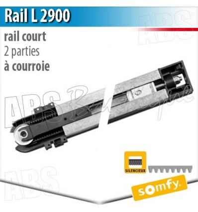 Rail moteur somfy l 2900 2 parties courroie - Moteur somfy porte de garage ...