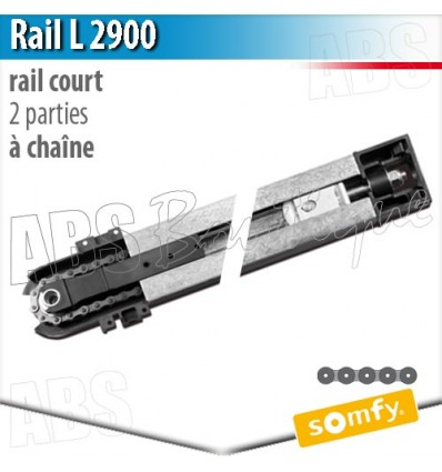 Rail moteur somfy l 2900 2 parties cha ne for Porte de garage moteur somfy