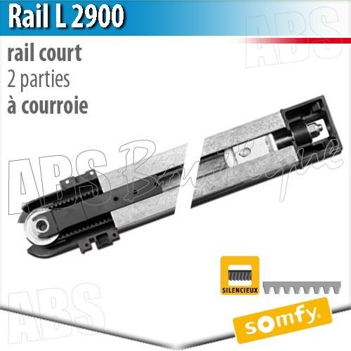 pack moteur somfy  dexxo pro 800 rts + rail 2900 courroie 2 parties