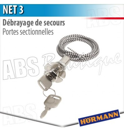 Debrayage de secours net 3 h rmann porte sectionnelle - Pieces detachees porte sectionnelle hormann ...