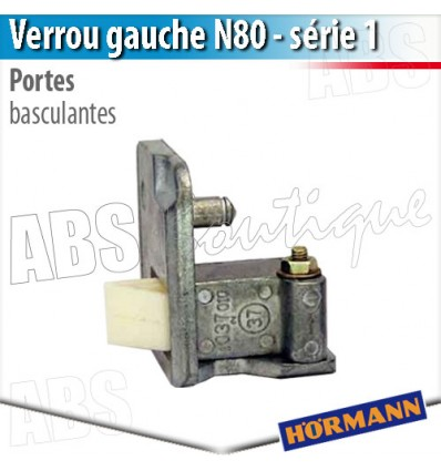 Verrou porte basculante d bordante h rmann s rie 1 gauche - Pieces detachees porte sectionnelle hormann ...