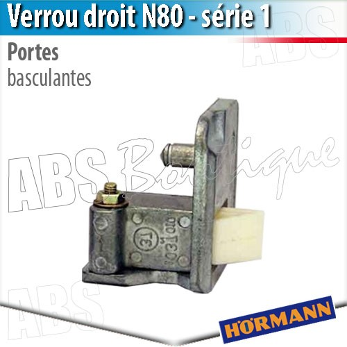 Verrou porte basculante d bordante h rmann s rie 1 droit - Pieces detachees porte sectionnelle hormann ...