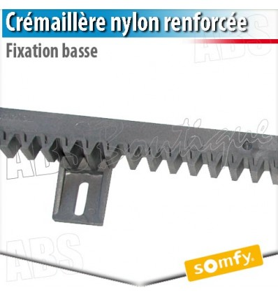 Cr maill re nylon fixation basse somfy 1000 mm for Diferbat porte garage