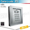 Clavier à code radio RTS métal - Somfy