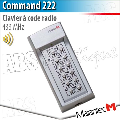 clavier code radio marantec command 222 433 mhz. Black Bedroom Furniture Sets. Home Design Ideas