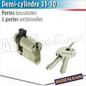 Demi cylindre  pour N80 et DF 98 Hörmann - Porte basculante Berry