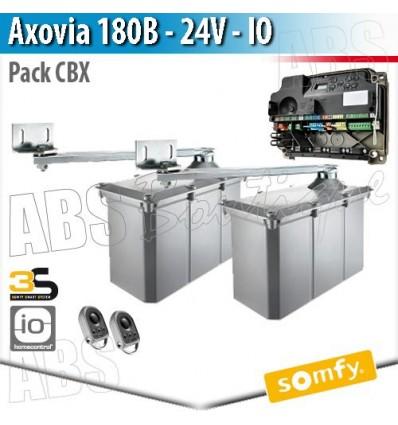 Motorisation portail Somfy - AXOVIA 180B + Armoire de commande CBX - Pack CBX 3S io