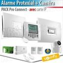 Alarme sans fil PROTEXIAL io et RTS Somfy - PACK PRO CONNECT + Caméra intérieure motorisée