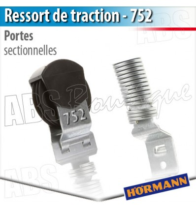 Ressort de traction porte de garage hormann n 752 - Pieces detachees porte sectionnelle hormann ...