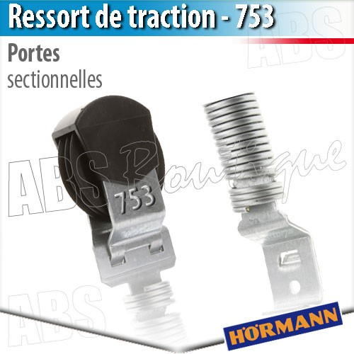 Ressort de traction porte de garage hormann n 753 - Pieces detachees porte sectionnelle hormann ...