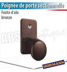 Poignée fonte d'alu ton brun Hörmann - Porte sectionnelle