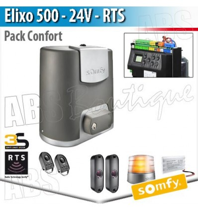 motorisation de portail elixo 500 24 v somfy pack confort rts. Black Bedroom Furniture Sets. Home Design Ideas