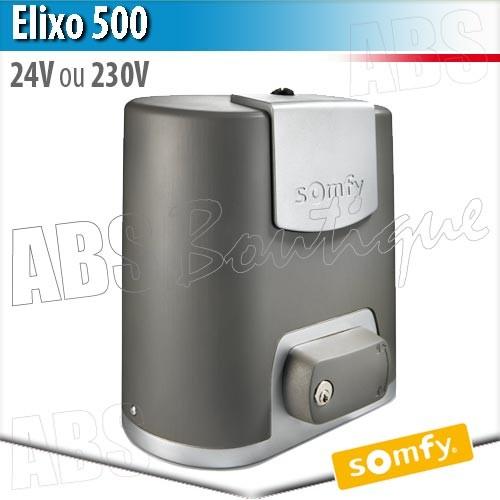 motorisation de portail elixo 500 24 v somfy pack confort rts. Black Bedroom Furniture Sets. Home Design Ideas