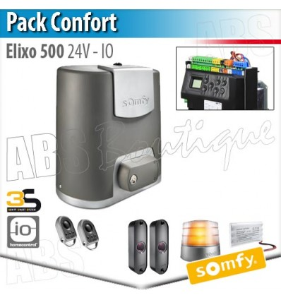 motorisation de portail elixo 500 24 v somfy pack confort io. Black Bedroom Furniture Sets. Home Design Ideas