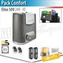 Motorisation portail coulissant Somfy - ELIXO 500 24 V - Pack Confort - io