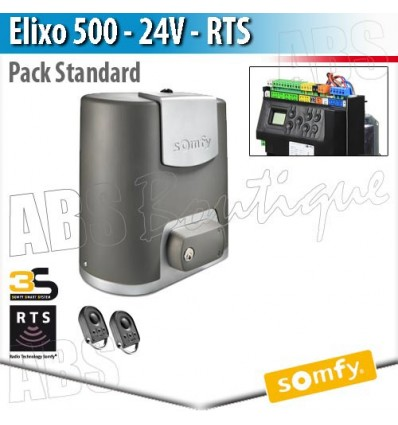 motorisation de portail elixo 500 24 v somfy pack standard rts. Black Bedroom Furniture Sets. Home Design Ideas