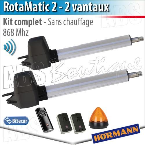 Motorisation Portail Hörmann Rotamatic 2 Bisecur Kit Complet