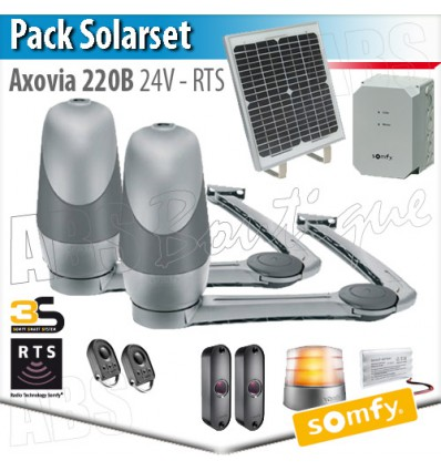 axovia 220 b somfy pack solarset panneau solaire. Black Bedroom Furniture Sets. Home Design Ideas