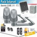 Motorisation portail Somfy - AXOVIA 220B - Pack Solarset - RTS