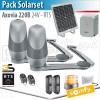Motorisation solaire portail battant Somfy - AXOVIA 220B - Pack Solarset - RTS