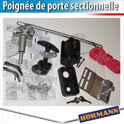 Poign e sectionnelle acier inoxydable poli - Accessoire porte sectionnelle ...