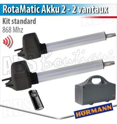 Motorisation de portail Hörmann - RotaMatic Akku-Solar 2 BiSecur