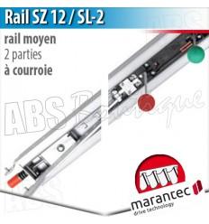 Rail moteur Marantec - SZ 12 SL-2 - courroie - 2 parties