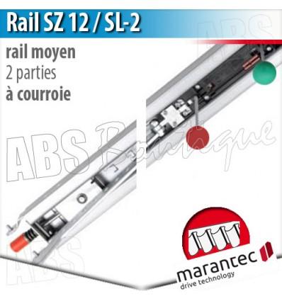 Rail d'entraînement moteur Marantec - SZ 12 SL-2 - courroie - 2 parties