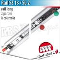 Rail moteur Marantec - SZ 13 SL-2 - courroie - 2 parties
