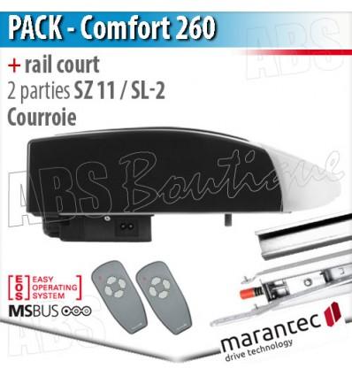 Moteur Marantec - Comfort 260 + rail SZ 11 SL à courroie en 2 parties