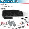 Moteur Marantec - Comfort 260 + rail SZ 11 SL - courroie - 2 parties