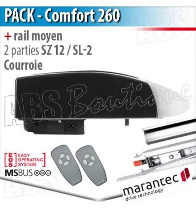 Moteur Marantec - Comfort 260 + rail SZ 12 SL à courroie en 2 parties