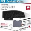 Moteur Marantec - Comfort 260 Accu + rail SZ 13 SL - courroie - 2 parties