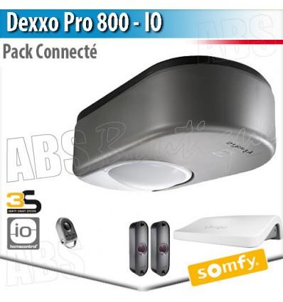 Moteur portes de garage Somfy - Dexxo Pro 800 io pack connecté + Keygo io + connexoon