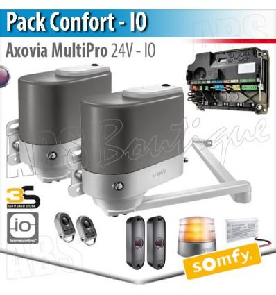 Motorisation portail battant Somfy - AXOVIA MULTIPRO - Pack Confort - io