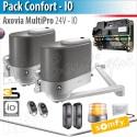 Motorisation portail Somfy - AXOVIA MULTIPRO - Pack Confort - io