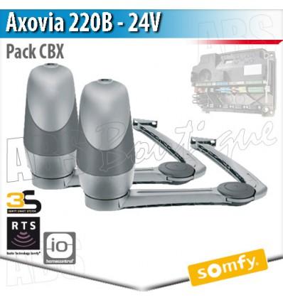 Motorisation portail battant Somfy - AXOVIA 220B - Pack Moteurs RTS ou IO