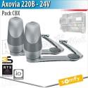 Motorisation portail Somfy - AXOVIA 220B - Pack deux Moteurs