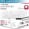 Moteur Marantec - Comfort 360 Bi-Linked + rail SZ 11 SL à courroie en 2 parties