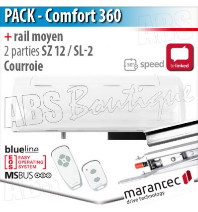 moteur comfort 360 bi linked marantec en 868 mhz et rail. Black Bedroom Furniture Sets. Home Design Ideas
