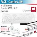 Moteur Marantec - Comfort 360 Bi-Linked + rail SZ 12 SL deux parties
