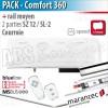 Moteur Marantec - Comfort 360 Bi-Linked + rail SZ 12 SL à courroie en 2 parties