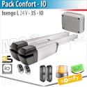 Motorisation portail Somfy - IXENGO L 24V - Pack Confort - io
