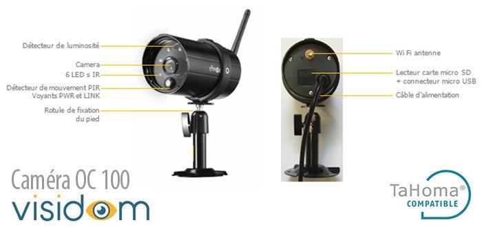Cam ra de surveillance ext rieure somfy visicom oc100 - Camera exterieure somfy ...