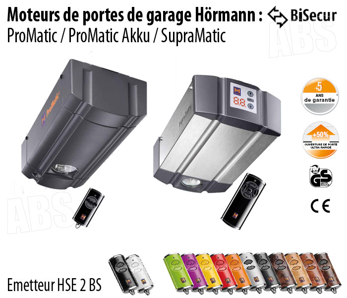 Motorisation porte de garage hormann abs boutique for Moteur nice porte garage