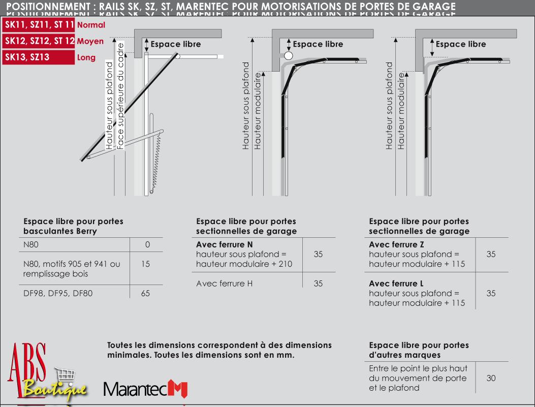 Moteur Comfort Accu Marantec En MHz Et Rail SZ SL - Motorisation porte de garage basculante